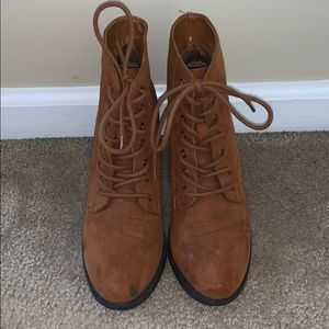 Forever 21 Light Brown Booties